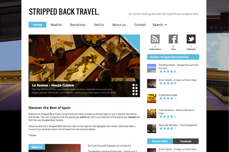 Creation site internet Stripped Back Travel