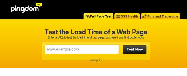 Mesurez la vitesse de votre site avec Pingdom