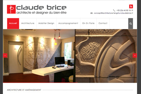 Création site internet de Claude BRICE – Consultant en architecture Feng Shui