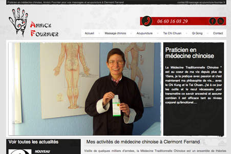 Creation site internet Annick Fournier – Massage Acupuncture
