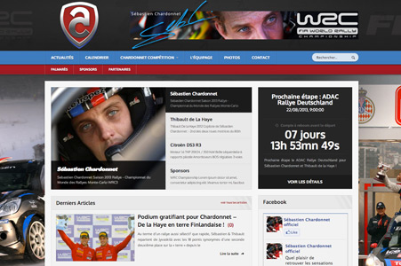 Creation site internet Sebastien Chardonnet – WRC