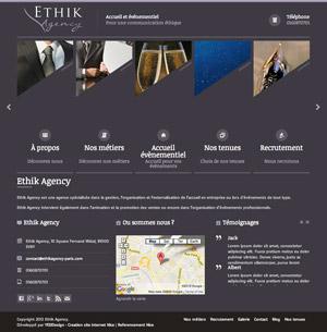 Creation site internet Ethik Agency