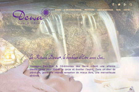 Creation site internet DEWA Spa d'Hôtes® – Spa La Gaude