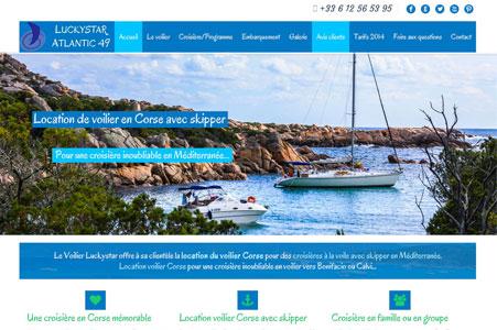 Création site internet Voilier Luckystar – Location voilier Corse