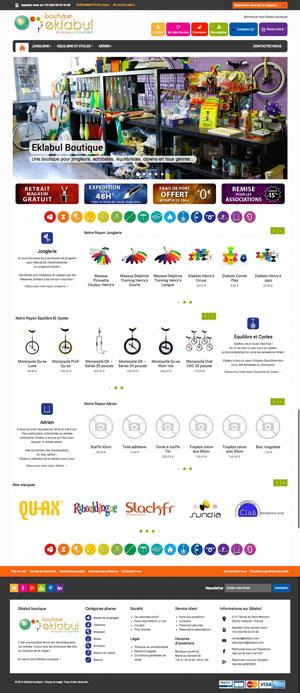 Création site internet - Eklabul - Matériel de Cirque