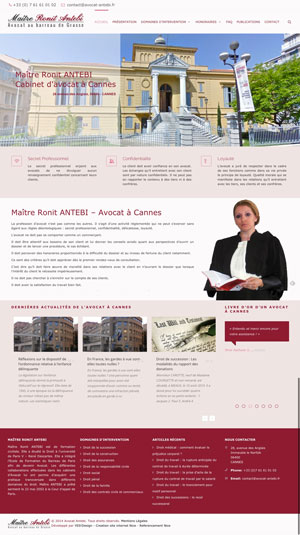 Création site internet - Maître Ronit ANTEBI