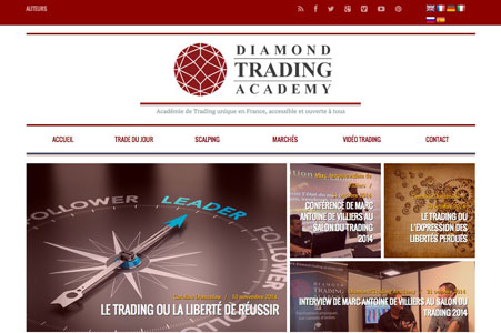 Création blog Diamond Trading Academy – Formation Trading