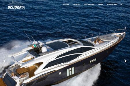 Création site internet Yacht Scuderia – Location yacht Cannes