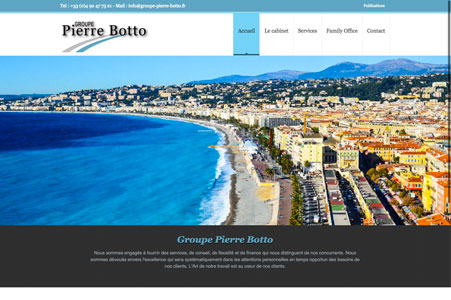 Création site internet Groupe Pierre Botto – Cabinet fiscal