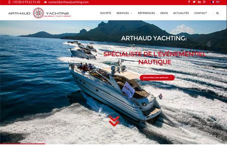 Création site internet de Arthaud Yachting – Agence événementielle