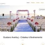 Création site internet de Gustavo Averbuj – Wedding planner Nice