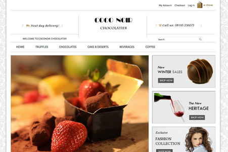 Creation site internet COCO NOIR Chocolatier