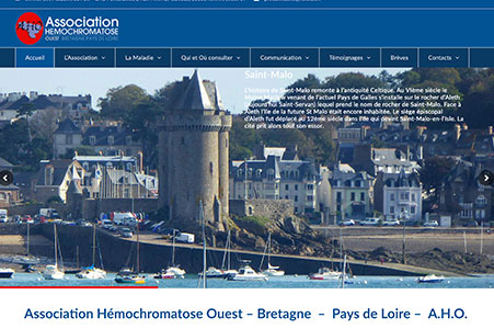 Creation site internet Association Hémochromatose Ouest
