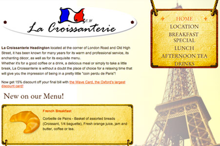 Creation site internet La Croissanterie