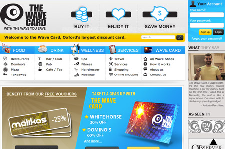 Creation site internet The Wave Card