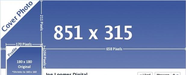 Dimensions des images présentent sur la Timeline de votre page Fan Facebook