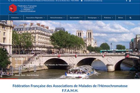 Creation site internet Fédération Française des Associations de Malades de l'Hémochromatose