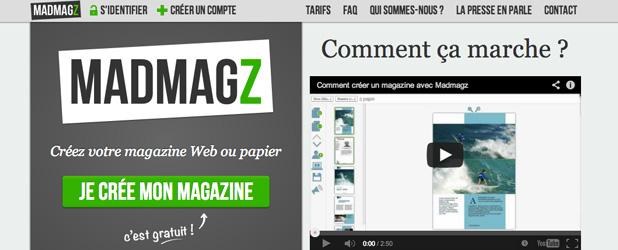 Madmagz - Créez votre magazine Web ou papier en ligne