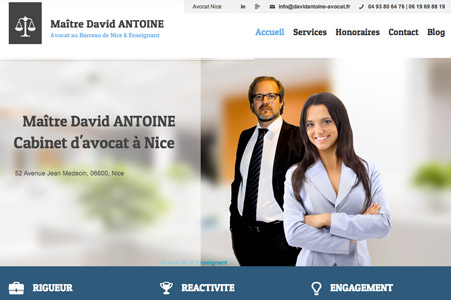 Creation site internet Maître David ANTOINE – Avocat Nice