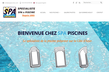 Creation site internet SPA Piscines – Pisciniste Nice