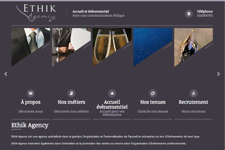 Creation site internet ETHIK Agency – Paris