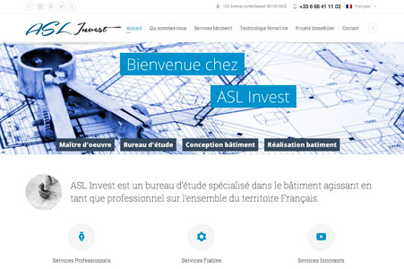 Création site internet ASL Invest – Maître d'oeuvre Nice
