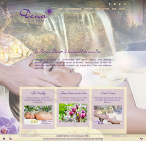 Creation site internet Spa d'Hôtes Dewa®