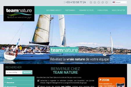 Creation site internet Team Nature – Team Building & Incentive Nice