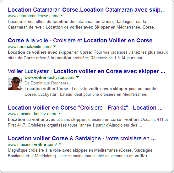 Exemples Page Rich Snippets - Création site Internet Nice