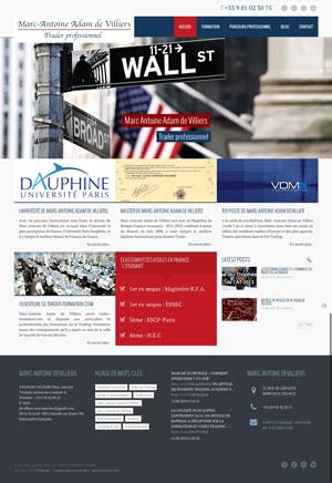 Création site internet - Marc Antoine Adam de Villiers