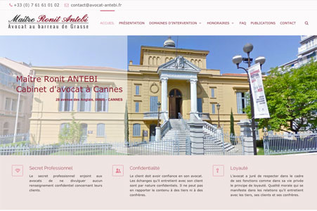 Creation site internet Maître Ronit ANTEBI – Avocat Cannes