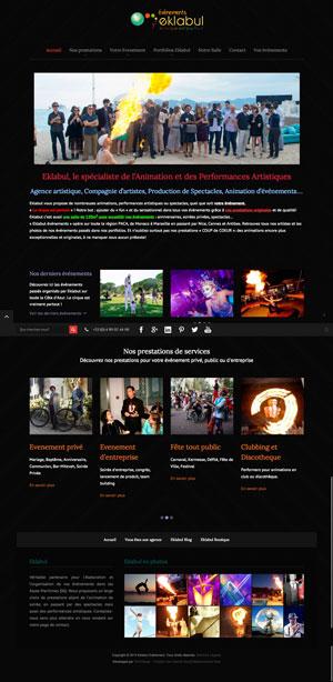 Création site internet - Eklabul événements