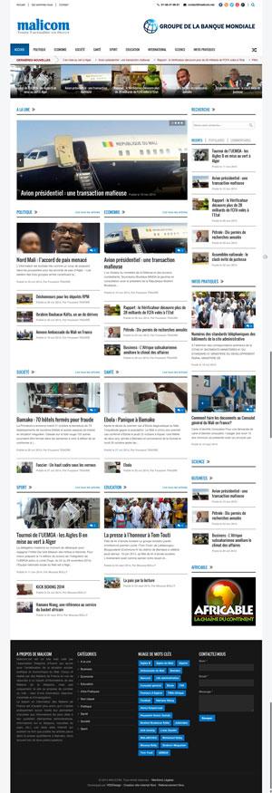 Création site internet - Malicom - Actualité Mali