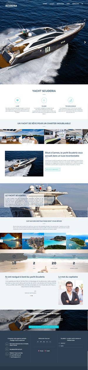 Création site internet - Yacht Scuderia