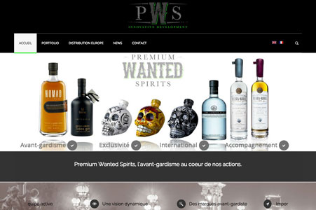 Création site internet Premium Wanted Spirits
