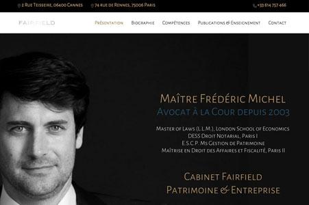 Création site internet Cabinet Fairfield – Avocat Cannes
