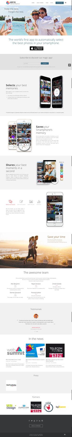 Création site web - Merry Pixel