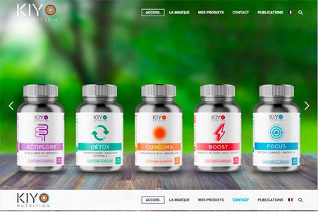 Création site internet de KIYO Nutrition | Compléments alimentaires