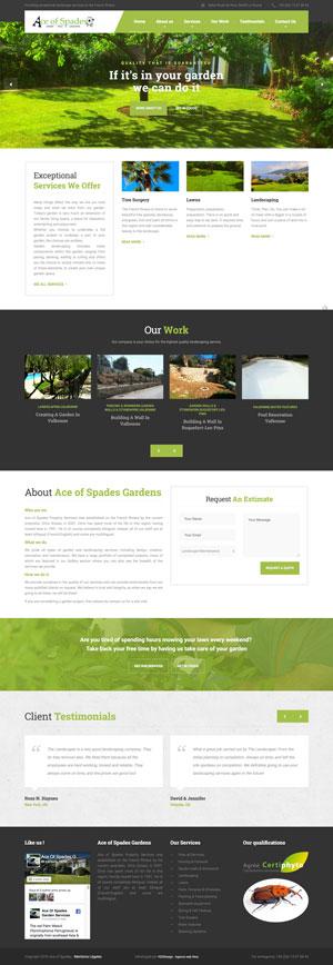 Création site internet Ace of Spades - Jardinier Côte d'Azur