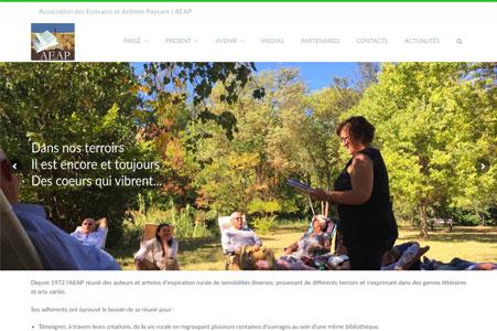 Creation site internet Association des Ecrivains et Artistes Paysans