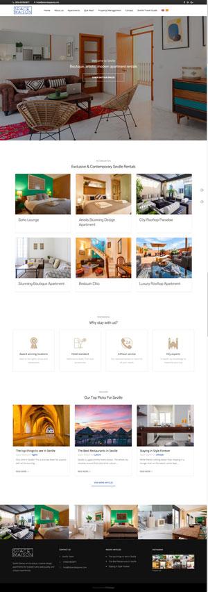 Création site internet Space Maison