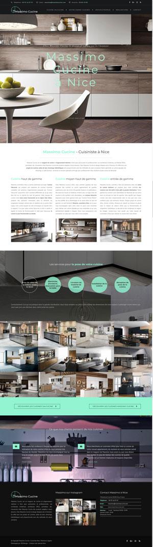 Création site internet Massimo Cucine | Cuisiniste Nice