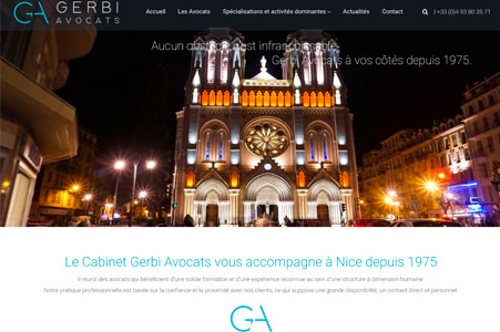 Création site internet Gerbi Avocats – Cabinet avocat Nice