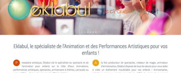 Création site internet Eklabul Kids – Anniversaire enfant