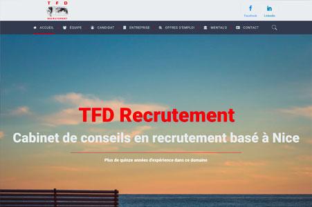 Création site internet TFD Recrutement à Nice